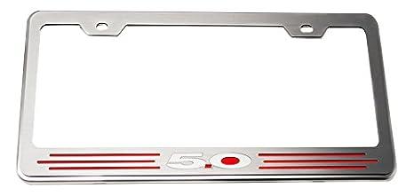 American Car Craft 272028-HORG Hemi Orange Solid Rear Tag Frame Ford 5.0