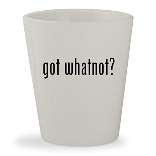 got whatnot? - White Ceramic 1.5oz Shot Glass (Muppet Whatnot Body)