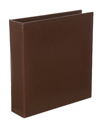 Becky Higgins Cinnamon Faux Leather Album for Scrapbooking, 6 by 8-Inch