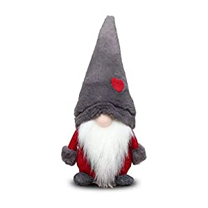 Amazlab Swedish Santa Gnome Plush, Handmade Scandinavian Tomte Nordic Nisse Sockerbit Elf Dwarf Home Household Ornaments…