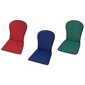 MR. COJIN Pack-2 Unidades COJIN Silla Jardin Respaldo MONOBLOC Colores Lisos (Azul)