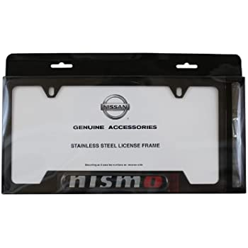 Amazon.com: Genuine Nissan Accessories 999MB-AV000BK Black License ...