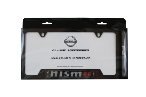 Genuine Nissan Accessories - Genuine Nissan Accessories 999MB-AV000BK Black License Plate Frame