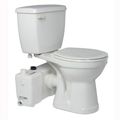 Bundle-15 1.6 GPF Elongated Toilet (4 Pieces) Finish: White by Saniflo