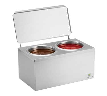 Server Products DI-2 Double Dip Server, Cone Dip Warmer, (2) 3 Qt. Stainless Steel Jars