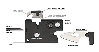 NALAKUVARA 10 in 1 Multi Purpose Pocket Credit Card Wallet Stainless Steel Knife Hunting Survival Multitool Utility Outdoor Tools Card Companion Tactical Knives from NALAKUVARA