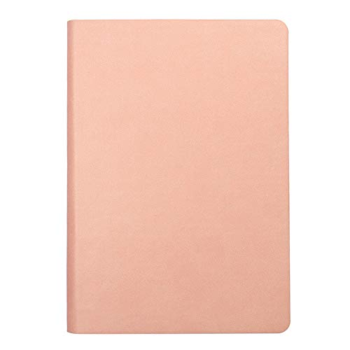 Notebook Journal-Leather Cover,Pink 5.7 x 8.3 inch Thick Plain Paper (5) by AOJE (Image #1)