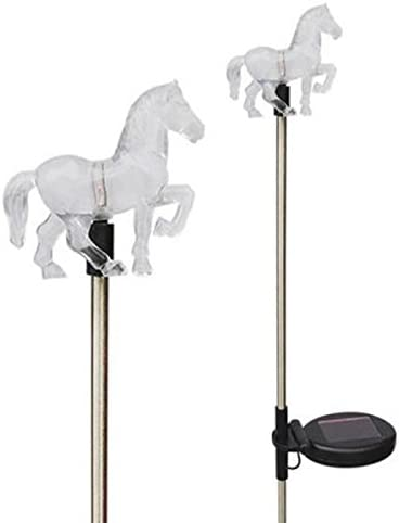 Unido Box Horse Solar Garden Stake Light LED Color-Changing, Set of 2