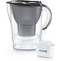 BRITA Marella Graphite - Jarra de Agua Filtrada con 4 cartuchos MAXTRA+ - Filtro de agua que reduce la cal y el cloro…