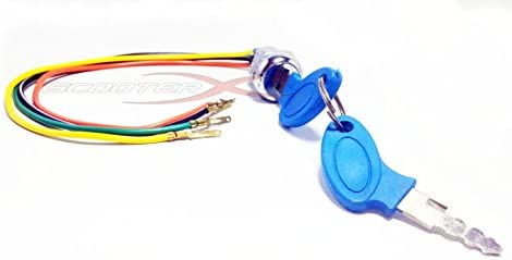 Amazon.com : ScooterX 4 Wire Ignition Switch/key Fits Many Gas and on 2 prong switch wiring diagram, 3 prong switch wiring diagram, 5 prong switch wiring diagram,