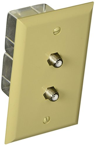 Morris 85020 Double F Connector Wall Plate, Ivory ()