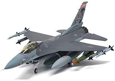 1/72スケール戦闘機モデル、軍事F-16CファイティングファルコンUSAF ANG 2002合金モデル、アダルトグッズ、12.