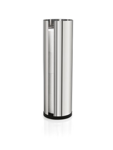 Blomus 66658 Polished Stainless Steel Spare Toilet Paper Roll Holder Stainless Steel Spare Toilet Paper