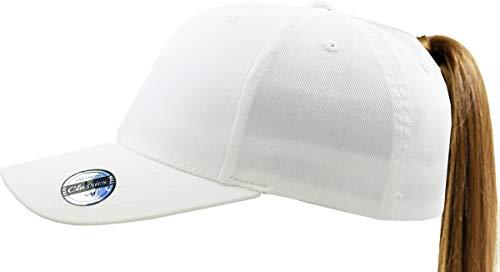 Hats Headwear - Pony-EZ FIT WHT S/M Stretch Fit