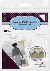 Bulk Buy: 3L/HELMAR Classic Style Paper Photo Corners .5'' (12mm) 126/Pkg Kraft 3L-PC-1630 (4-Pack) by HELMAR