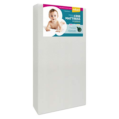 Milliard Premium Memory Foam Hypoallergenic Infant Crib Mattress and Toddler