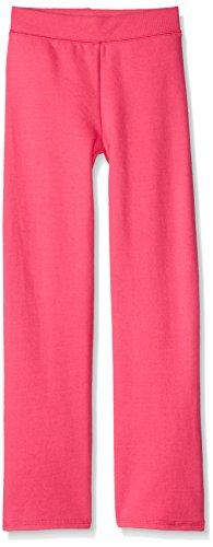 Hanes Big Girls' Comfortsoft Ecosmart Open Bottom Fleece Sweatpant, Amaranth, M
