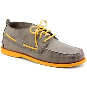 Men's Sperry, Authentic Original Relaxed Chukka GREY ORANGE 7.5 - Original Authentic Chukka