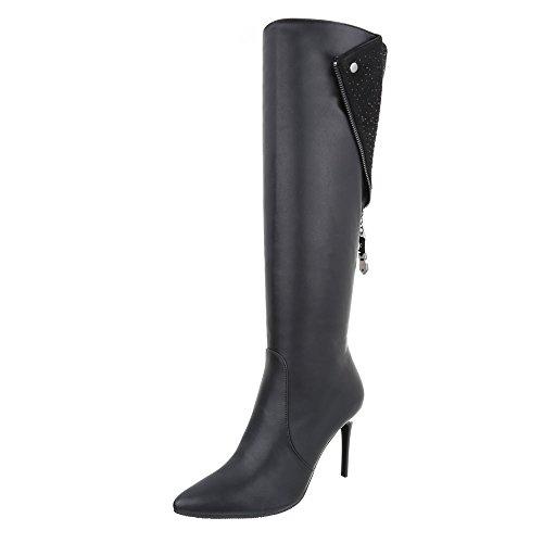 clásicas Design Ital negro Mujer botas 7EnwqB