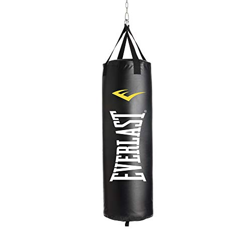 Everlast P00001222 40LB Heavy Bag Heavy Punching Bags, Black/White,