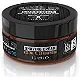 Razor MD Rx Shave Cream, Essential Sandalwood (8 Oz, Normal to Slightly Oily Skin) - Shaving Tools & Accessories for the Modern Man