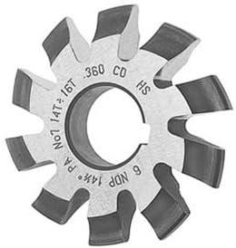 Lot 1pcs HSS M4 20 degree #1 Cutting Range 12-13 Teeth Involute Gear Cutter