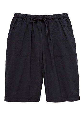 Swim 365 Women's Plus Size Long Taslon Board Shorts Black,34/36