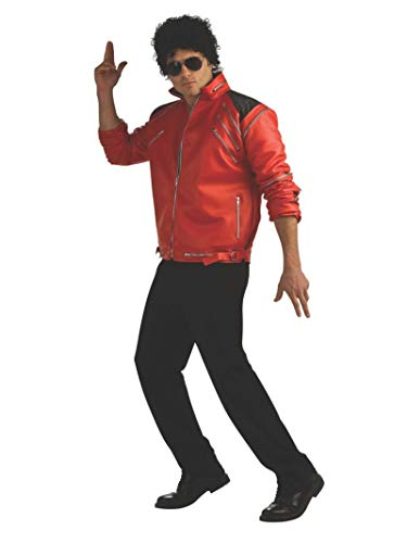 Michael Jackson Deluxe Zipper Jacket, Red, X-Large Costume