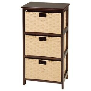 Basketville Dark Tone Night Stand