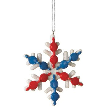 Amazon.com: Swimming Goggles Snowflake Christmas Ornament: Home ...