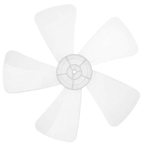 Freebily Household Plastic Fan Blade Five Leaves for Standing Pedestal Fan Table Fanner General Accessories, 16 Inch Ivory One Size