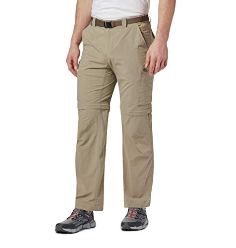 Columbia Men's Silver Ridge Convertible Pant, Breathable, UPF 50 Sun Protection, Tusk, 32x32
