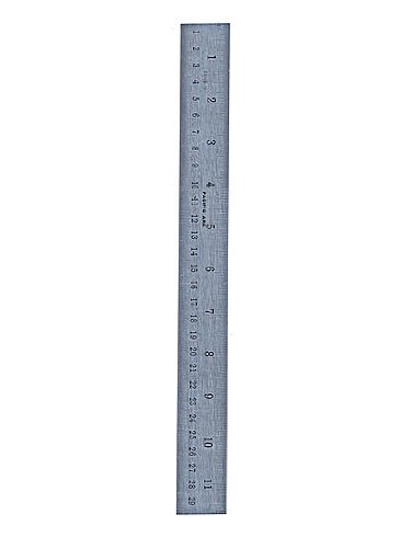Pacific Arc Stainless Steel Rulers Inch/Metric with Conversion Table 18 in.