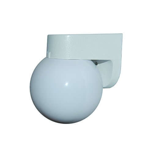 Wall Exterior Bracket - Polymer Products 1520-00600-GI Incandescent White Wall Bracket with White 6