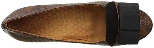 Chie Mihara Nuara-c, Scarpe col Tacco Punta Chiusa Donna Marrone (Hebi Cuero Hebi Cuero)