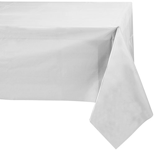 Table Paper Cover Rectangular (Jubilee 54-Inch-By-108-Inch PEVA Table Cover, 4 Count, White)