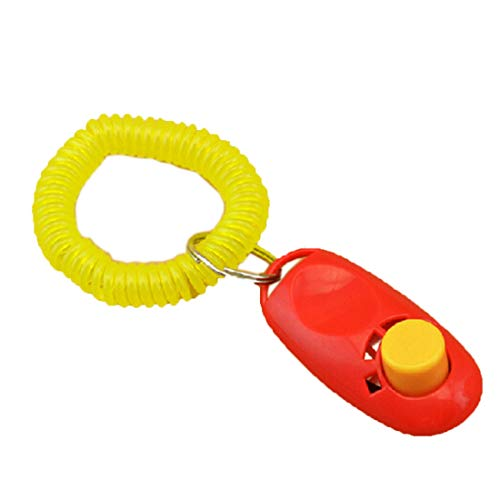 Training Clicker – Est Universal Animal Pet Training Clicker Obedience Aid Wrist Strap Light Weight Fast Delivery…