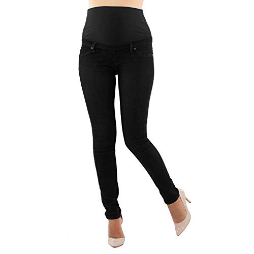 Milano Basic, Essential Maternity Jeans, More Than a Denim Classic - Made in Italy (S, Black)