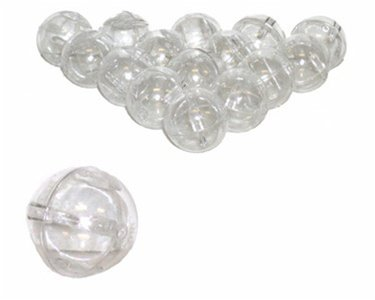 50 Clear Round Empty Capsules - Toy Capsules - Empty Balls for Vending Machine (Rings Vending Capsules)