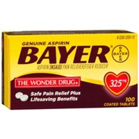 Price comparison product image Bayer Aspirin, 325 mg, 100 tabs by Bayer (Pack of 2)