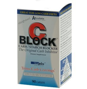 ABSOLUTE NUTRITION C BLOCK,CARBO INHIBITOR, 90 CT