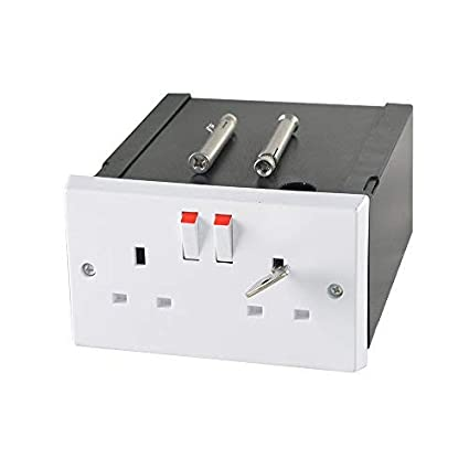 Caja de seguridad secreta imitación de enchufe doble, caja escondida