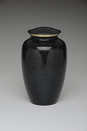 Brass Cremation Urn - Black - Adult Wholesale Case of 4 For Resale