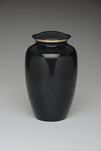 Brass Cremation Urn - Black - Adult Wholesale Case of 4 For (Wholesale Cremation Urns)