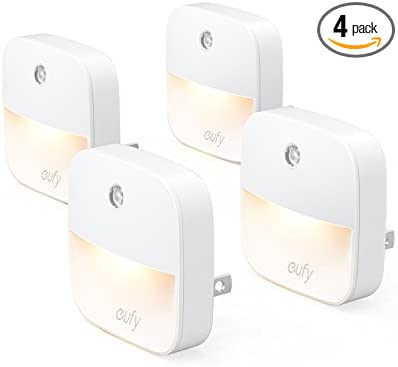 Eufy Lumi Plug In Night Light Warm White Led Nightlight Dusk To Dawn Sensor Bedroom Bathroom Kitchen Hallway Stairs Energy Efficient Compact