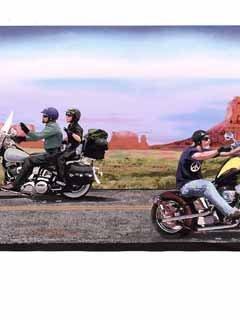 Harley Davidson Motorcycle Wallpaper Border...