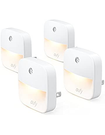 4309f00541b eufy Lumi Plug-In Night Light, Warm White LED Nightlight, Dusk-To