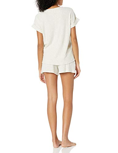 Lucky Brand Women's Ribbed Hacci Tee and Short Set