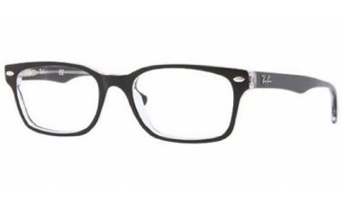 Ray-Ban RX5286 Eyeglasses Top Black on Transparent 51mm