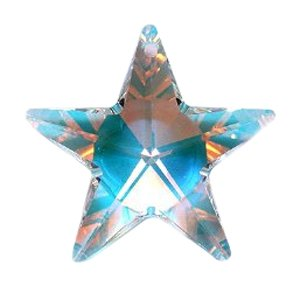 (Swarovski 6714 Star Pendants, Aurora Borealis, Crystal, 28mm)